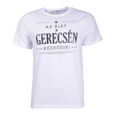 """Póló emblémázott Gerecse 2017 Fehér """"M"""""""