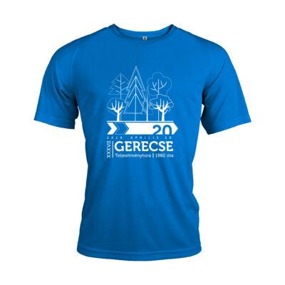 XXXVII. Gerecse50 férfi technikai póló (kék, L)