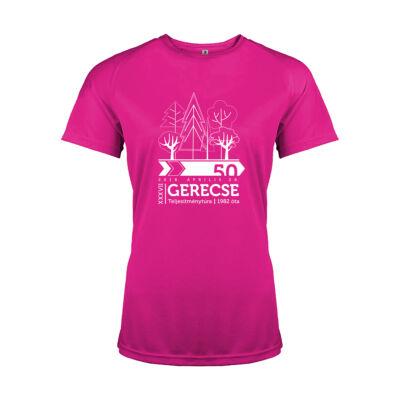 XXXVII. Gerecse50 női technikai póló (pink, XL)