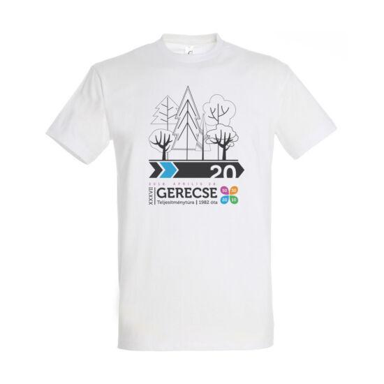 XXXVII. Gerecse50 férfi pamut póló (fehér/kék, L)