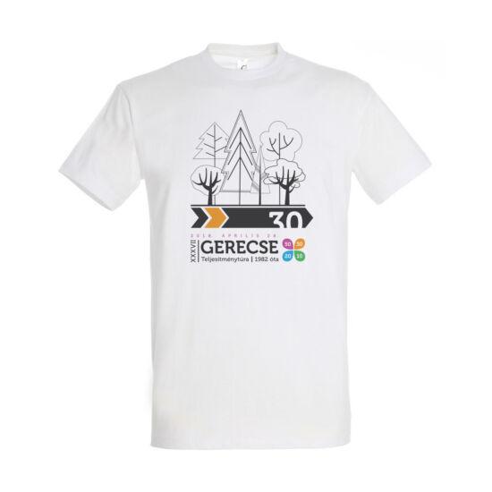 XXXVII. Gerecse50 férfi pamut póló (fehér/narancs, M)
