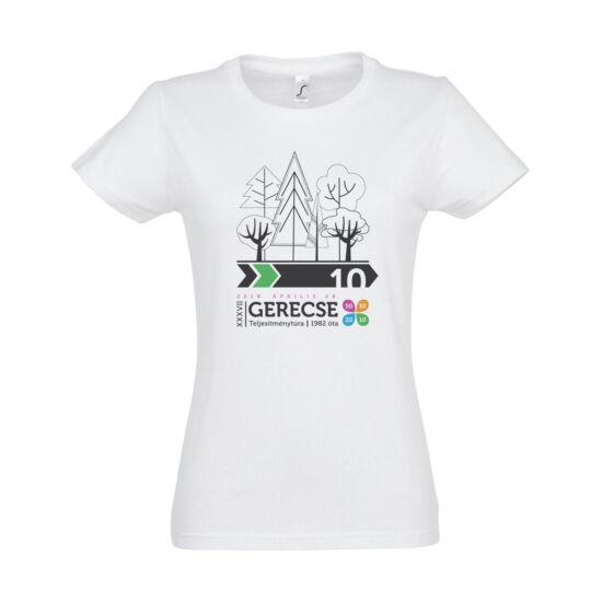 XXXVII. Gerecse50 női pamut póló (fehér/zöld, M)