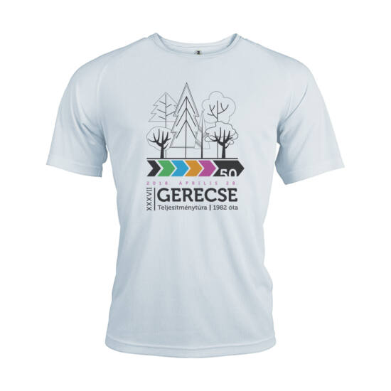 XXXVII. Gerecse50 férfi technikai póló (fehér, L)