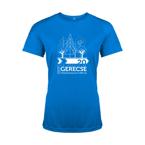 XXXVII. Gerecse50 női technikai póló (kék, M)