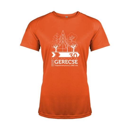 XXXVII. Gerecse50 női technikai póló (narancs, XS)