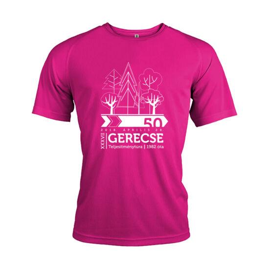 XXXVII. Gerecse50 férfi technikai póló (pink, 2XL)