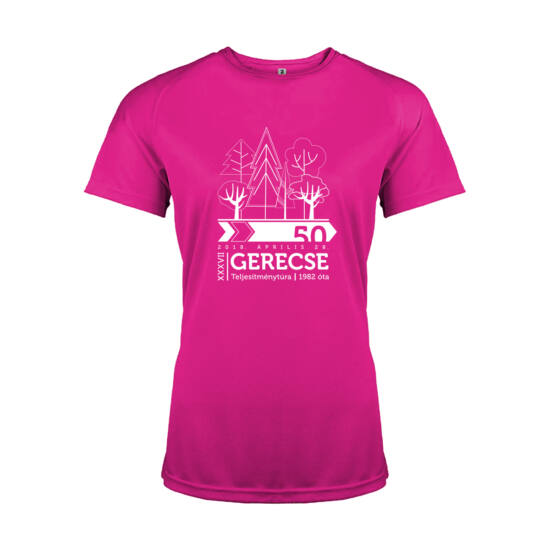XXXVII. Gerecse50 női technikai póló (pink, XS)