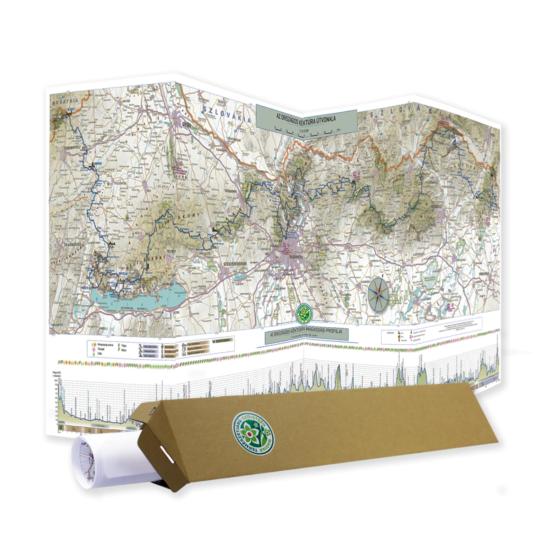 OKT térkép (1:450 000) papírdobozban