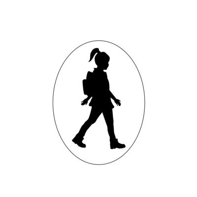 Turista Vagyok autómatrica lány (fekete)