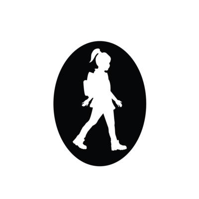 """Turista Vagyok"""" autómatrica lány (fehér)"""