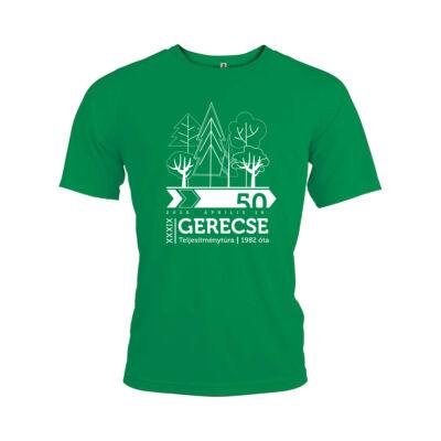 XXXIX. Gerecse50 férfi technikai póló (zöld, M)