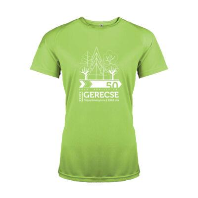 XXXIX. Gerecse50 női technikai póló (lime, M)