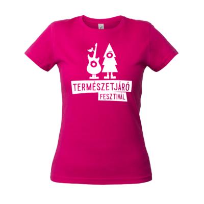 Póló-Természetjáró Fesztivál női (pink,L)