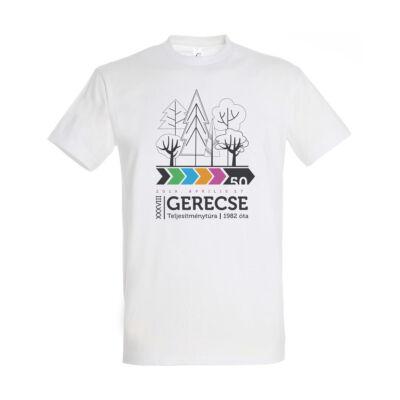 XXXVIII. Gerecse50 férfi pamut póló (fehér, M)