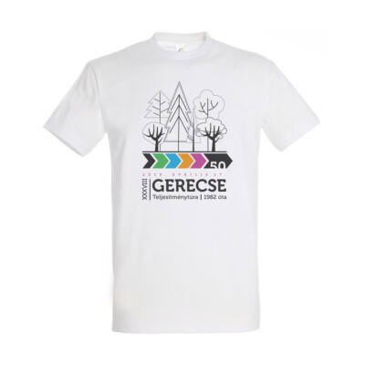 XXXVIII. Gerecse50 férfi pamut póló (fehér, 2XL)