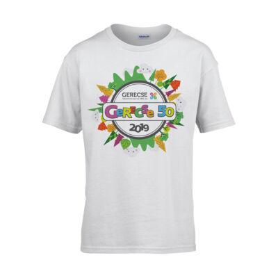 XXXVIII. Gerecse50 gyerek technikai póló (fehér, 12/14)