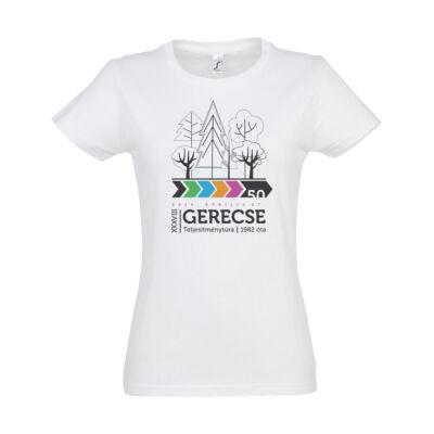 XXXVIII. Gerecse50 női pamut póló (fehér)