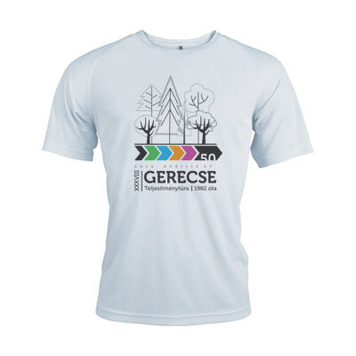 XXXVIII. Gerecse50 férfi technikai póló (fehér, 2XL)
