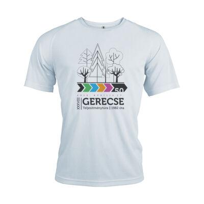 XXXVIII. Gerecse50 férfi technikai póló (fehér, L)