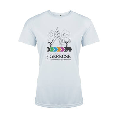 XXXVIII. Gerecse50 női technikai póló (fehér, M)