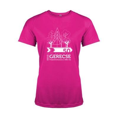 XXXVIII. Gerecse50 női technikai póló 50 km (pink, L)