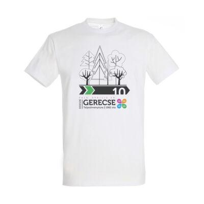 XXXVII. Gerecse50 férfi pamut póló (fehér/zöld, XL)
