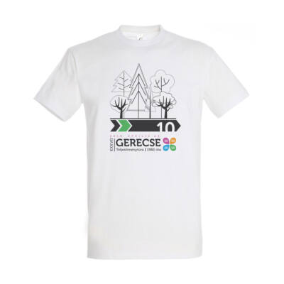 XXXVII. Gerecse50 férfi pamut póló (fehér/zöld, 2XL)