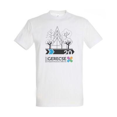 XXXVII. Gerecse50 férfi pamut póló (fehér/kék) 20km