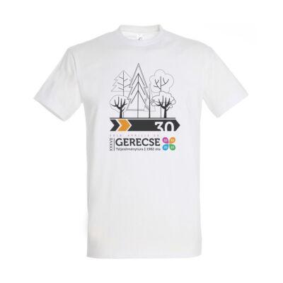 XXXVII. Gerecse50 férfi pamut póló (fehér/narancs, XL)