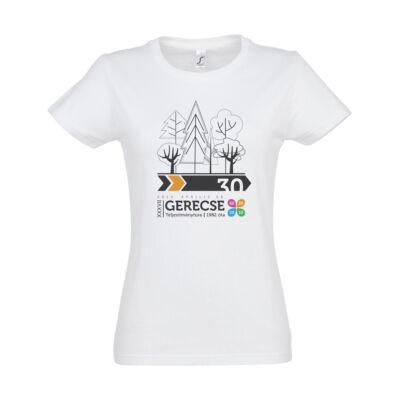 XXXVII. Gerecse50 női pamut póló (fehér/narancs, XL)