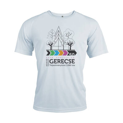 XXXVII. Gerecse50 férfi technikai póló (fehér, M)