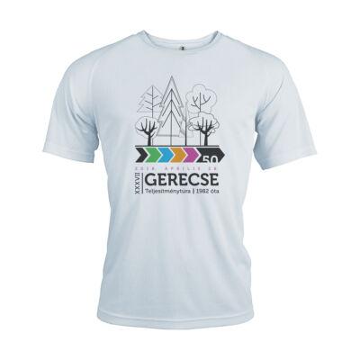 XXXVII. Gerecse50 férfi technikai póló (fehér, XL)