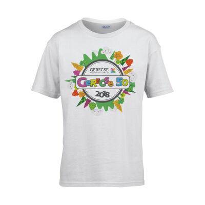 XXXVII. Gerecse50 gyerek technikai póló (fehér, XS)