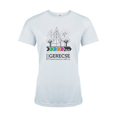 XXXVII. Gerecse50 női technikai póló (fehér, L)