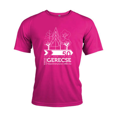 XXXVII. Gerecse50 férfi technikai póló (pink) 50km