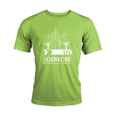 XXXVII. Gerecse50 férfi technikai póló (zöld, 2XL)