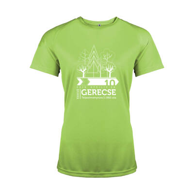 XXXVII. Gerecse50 női technikai póló (zöld, M)
