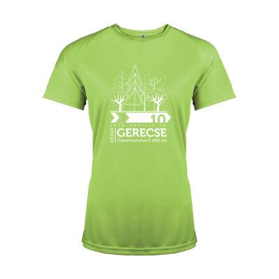 XXXVII. Gerecse50 női technikai póló (zöld, XS)