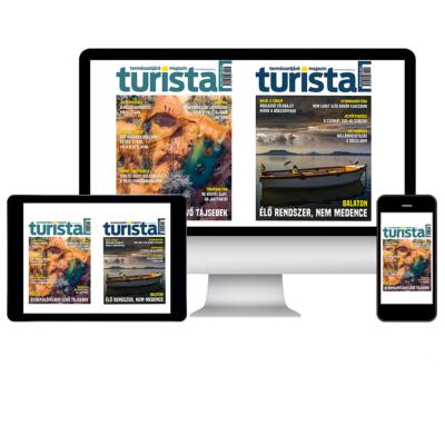 Éves előfizetés digitális Turista Magazin lapszámokra