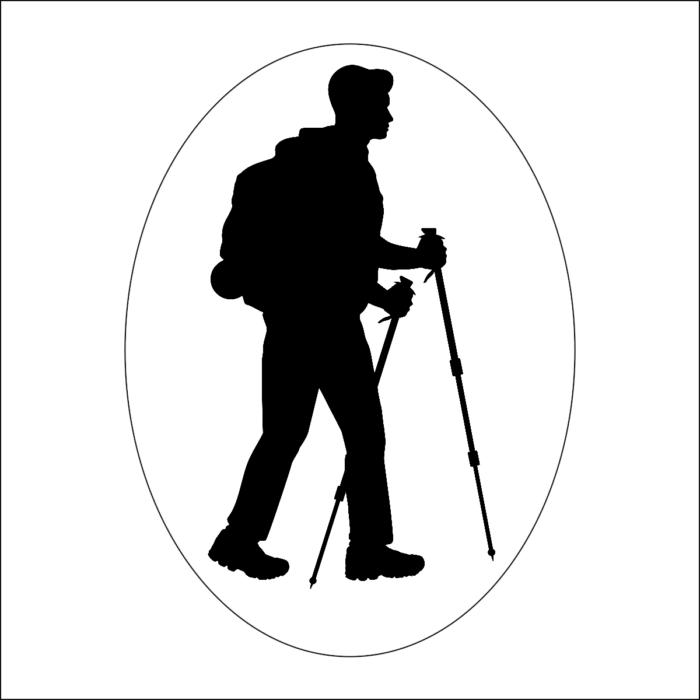 Turista Vagyok autómatrica férfi (fekete)