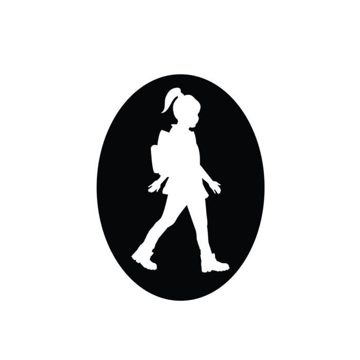 Turista Vagyok autómatrica lány (fehér)